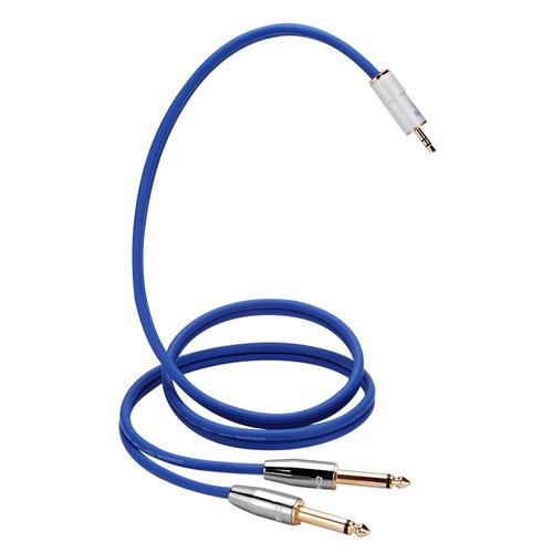 5mm立体声转双6.3mm单声道插头