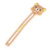 韩版 轻松熊 硅胶卡通长条绕线器 穿孔式 小锯齿绕线器
