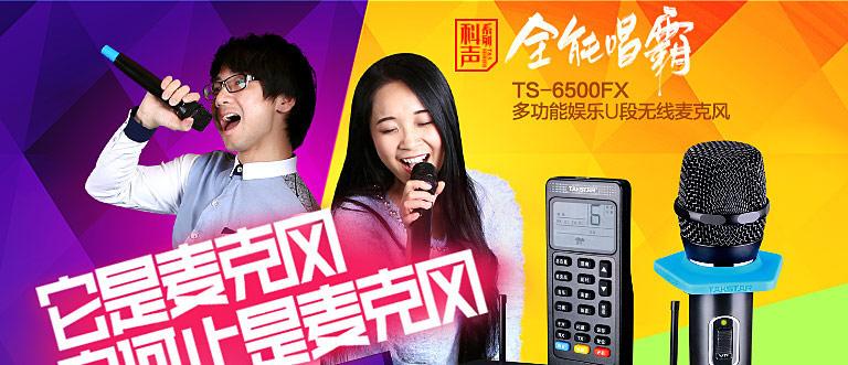TS-6500FX 全能唱霸 多功能娱乐 U段无线麦克风