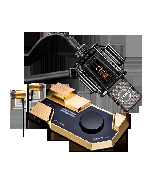 莱维特STREAM 4x5声卡搭配莱维特LCT 840麦克风 网络直播K歌