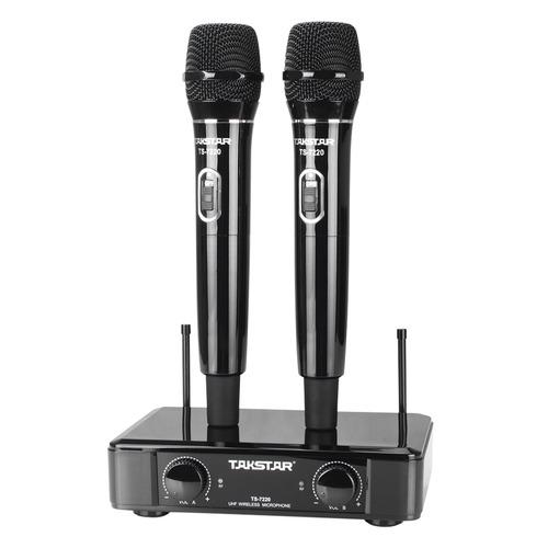 得胜(TAKSTAR) TS-7220 KTV/演出手持式UHF无线动圈麦克风   (黑色)