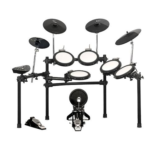 红魔(HXM) HD-010C 增强版 6鼓4镲电子鼓  所有鼓都有边击效果 含鼓棒 踏板