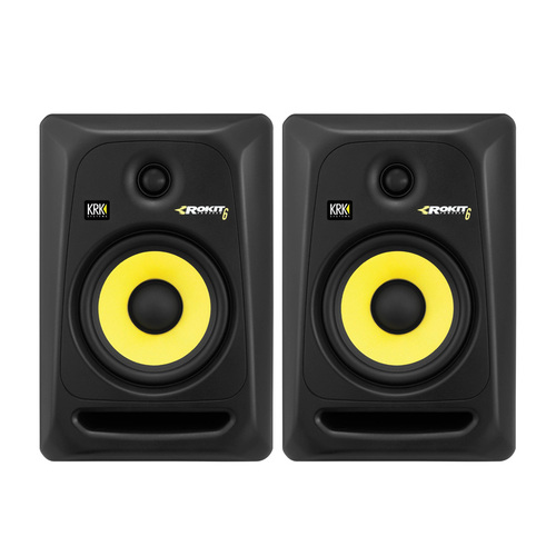 卡尔卡(KRK) 美国品牌Rokit6 G3/RP6G3 6寸有源专业录音室监听音箱(一对)(原型号已停产,替换型号:Rokit7 G4/RP7 G4)