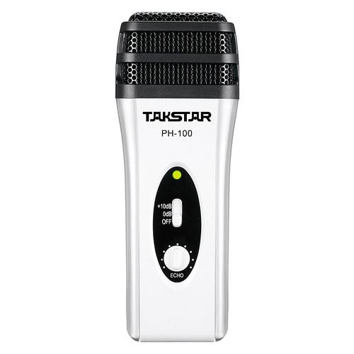得胜(TAKSTAR) PH-100 电容式手机直播K歌麦克风 (白色)