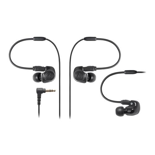 ATH-IM50 双动圈监听耳塞 可换线耳机 (黑色)