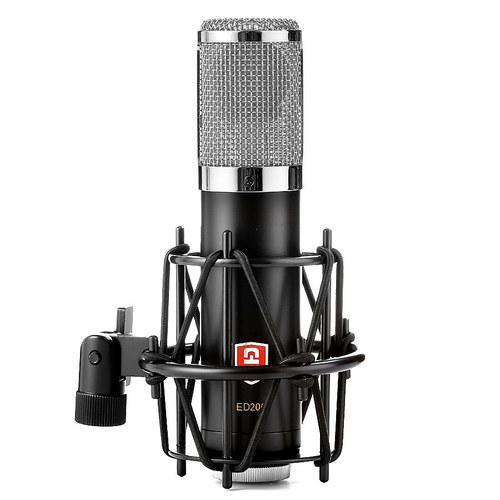 ED206 大振膜电容麦克风 网络K歌录音话筒 (银色)