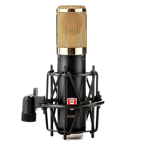 ED207 专业电容麦克风录音 K歌话筒主播直播设备 (金色)