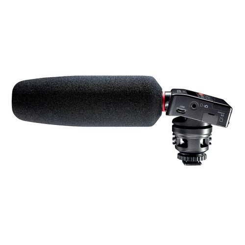 TASCAM DR-10SG PCM线性录音机 自带短枪话筒 采访录音笔 中文菜单 单反麦克风