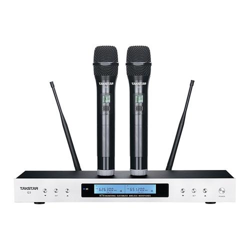 得胜(TAKSTAR) G3 KTV/舞台演出UHF无线麦克风一拖二