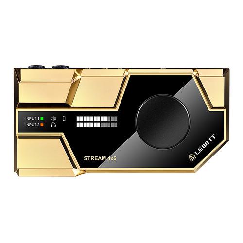莱维特(LEWITT) STREAM 4x5 网络K歌录音外置声卡 (金色)