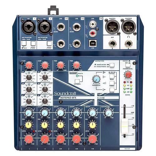 Notepad-8FX 8路小型模拟调音台 自带USB音频接口 主播K歌录音