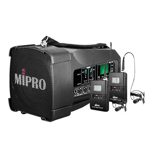 MA-100DB 50W便携式无线扩音器 户外移动音箱 会议/广场舞/户外宣传音响(配领夹麦)