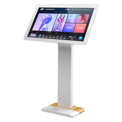 惊艳 Note 21.5寸家庭KTV点歌机 高清触摸屏卡拉OK一体机家用点唱机 落地式 电容屏 3T (白加金)