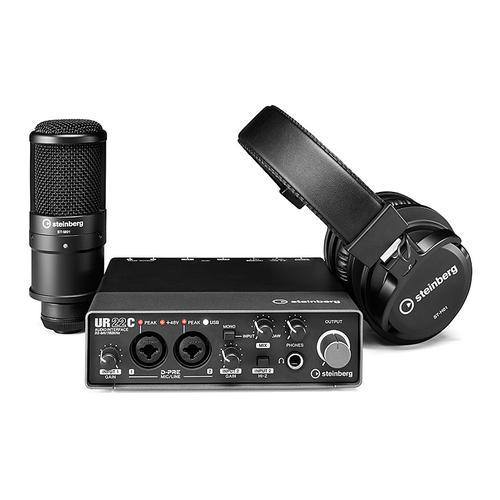 雅马哈 UR22CRP 专业录音外置声卡麦克风套装 编曲混音USB音频接口 2019升级版