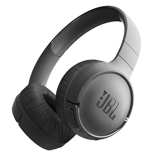 JBL T500BT 头戴式无线蓝牙耳机 音乐运动便携重低音耳麦带线控 (黑色)