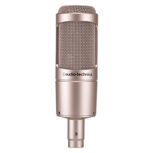 AT2035 电容式录音麦克风 录音话筒直播主播(金色)