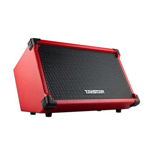 得胜(TAKSTAR) OPS-25 户外演出直播便携式弹唱音箱 无线蓝牙手机K歌吉他音响 (红色)