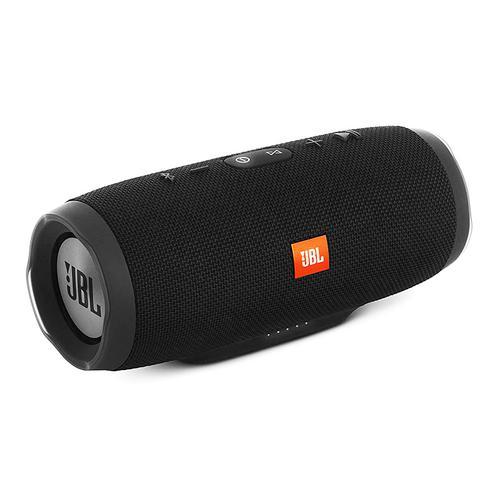 JBL CHARGE3 音乐冲击波4代无线蓝牙音箱 双低音便携迷你防水户外音响 (黑色)