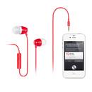 H210p 支持手机/单孔笔记本/PAD/MP3 入耳式耳塞 带线控带麦 (红色)