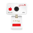 6PLUS 高清摄像头自动变焦720P超显瘦视频主播美颜摄像头 (红色)