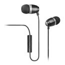 H210p 支持手机/单孔笔记本/PAD/MP3 入耳式耳塞 带线控带麦 (黑色)
