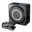 E260W 无线扩音器 教师学专用 户外大功率导游小蜜蜂 (黑色)