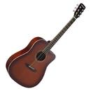 DG120C-P 41寸初学入门木吉他 缺角民谣吉他 (烟草化色)