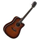 星臣(Starsun) DG220C-P 41寸原声初学入门木吉他 缺角民谣吉他 (烟草化色)