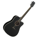 星臣(Starsun) DG220C-P 41寸原声初学入门木吉他 缺角民谣吉他 (黑色亮光)