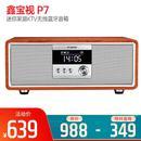 P7 迷你家庭KTV无线蓝牙音箱 带家用K歌麦克风 (深木纹)