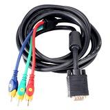 秋叶原(CHOSEAL) Q549  DVD接高清电视、背投、投影仪等/VGA转色差线/转换线(3m)
