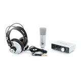 iTrack Studio iPad 专业录音外置USB声卡套装(银白色)
