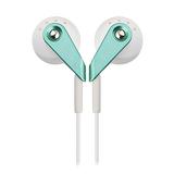 漫步者(Edifier) H185 低频出色 重低音时尚炫彩 立体声耳塞 (银绿)