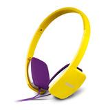 K680 高品质时尚耳机 便携式耳机 立体声耳机 带麦 (黄色)