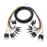 EWI MTMS-16-15 16路 15英尺 多芯电缆信号线 16组母卡农转6.35mm