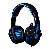 赛德斯(SADES) SA-708  头戴式立体声专业游戏耳机 (蓝色)