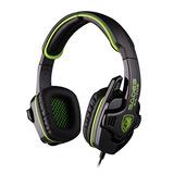 SA-708  头戴式立体声专业游戏耳机 (绿色)