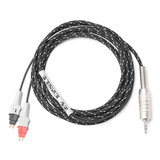 张扬 森海HD580、600、650等发烧耳机升级线 3.5插头 单晶铜版 6N OCC