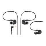 铁三角(Audio-technica) ATH-IM50 双动圈监听耳塞 可换线耳机 (黑色)