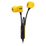 爱科技(AKG) Y20U 中低频温暖音色 线控通话入耳式耳机 (黄色)