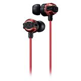 杰伟世(JVC) HA-FX33X 入耳式耳机 超重低音DJ音乐魔音耳塞 (红色)