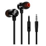 JBL T280A 立体声入耳式耳机 高兼容性手机通话耳麦 (黑色)