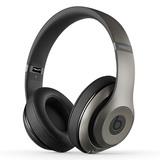 Beats studio Wireless 无线蓝牙录音师耳机 头戴式降噪电脑手机耳机 (钛金)