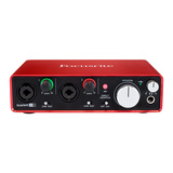 富克斯特(Focusrite) Scarlett 2i2二代 专业录音 USB外置声卡 音频接口升级版(已停产,替换型号:3代2i2)