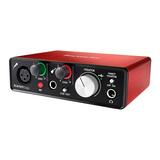 富克斯特(Focusrite) Scarlett Solo USB声卡二代 专业录音声卡 升级版(已停产,替换型号:3代Solo)