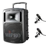 咪宝(MIPRO) MA-808 10寸户外PA拉杆多功能无线扩声音箱(配领夹麦)
