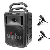 咪宝(MIPRO)MA-708  8寸户外PA拉杆多功能无线扩声音箱(配领夹麦)