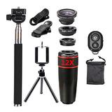 爱派赛(APEXEL) APL-12x10IN1黑色12X十合一套装 通用手机镜头