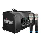 咪宝(MIPRO)MA-100DB 50W便携式无线扩音器 户外移动音箱 会议/广场舞/户外宣传音响(配手持麦)