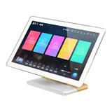 惊艳 Note 21.5寸家庭KTV点歌机 高清触摸屏卡拉OK一体机家用点唱机 桌面式 电容屏 4T (白加金)
